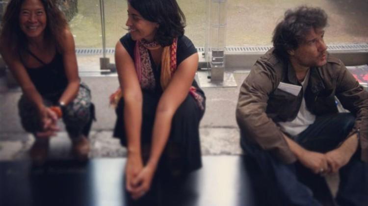 Elaine Ling, Arianna Rinaldo e Giancarlo Ceraudo | backstage T.R.I.P. Mercati di Traiano - Fori Imperiali