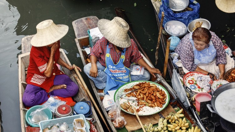 i mercati galleggianti di Damnoen e di Taling Chan