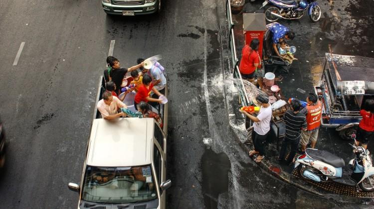 Bangkok durante il Songkran