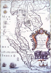 1686 French Map of Siam