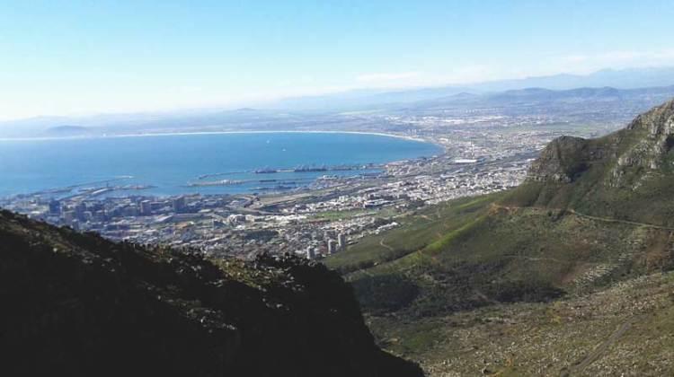Cape Town vista da Table Mountain