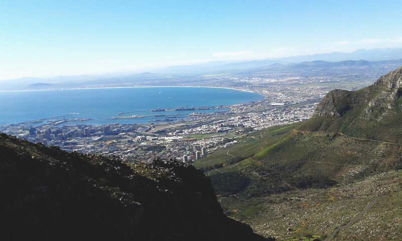 Cape Town vista da Table Mountain