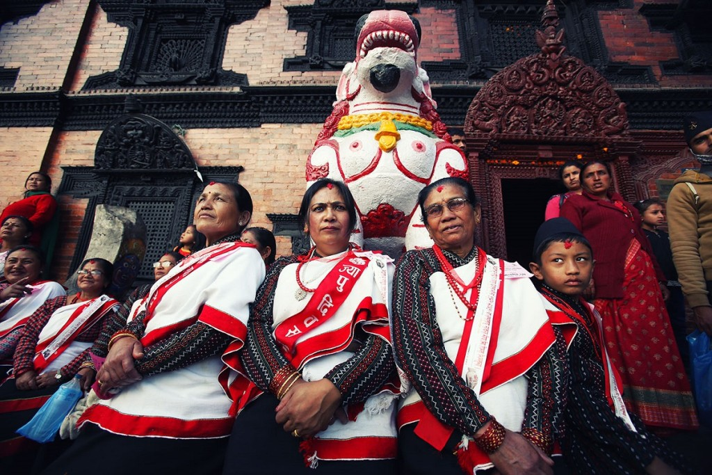 Yomari Punhi Festival nella zona dei templi di Kathmandu