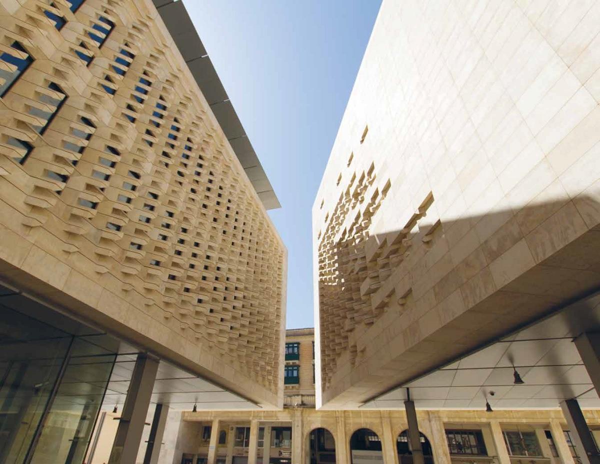 Malta renzo piano e la pietra calcarea for Renzo piano malta