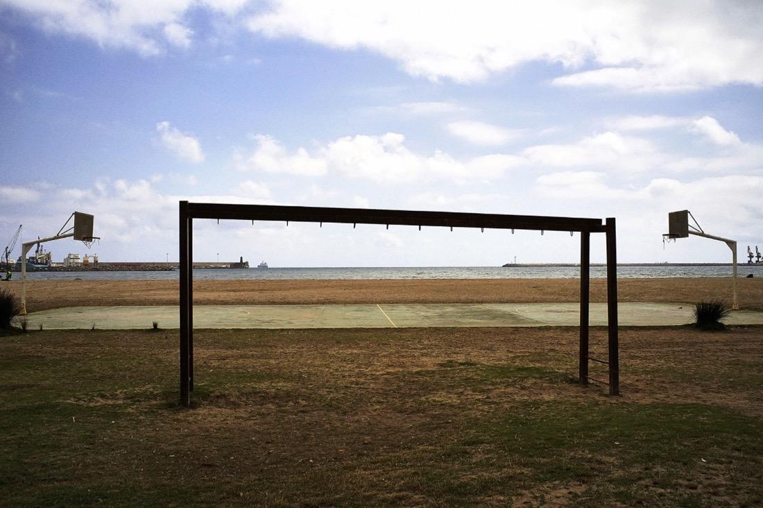 Melilla, Spain – A basketball cour