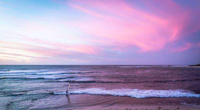 tramonto mare su-ovest australiano
