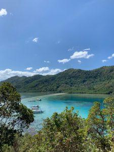 panorama mare e monti, baia di Bacuit, Filippine